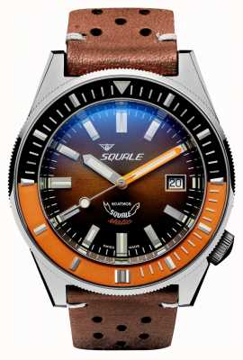 Squale MATIC CHOCOLATE LEATHER | Automatic | Brown Sunray Dial | Brown Leather Strap MATICXSD.PTS-CINU1565GD