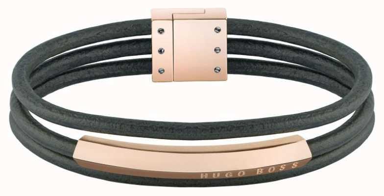 BOSS Jewellery Essentials Brown Leather Bracelet 1580034M