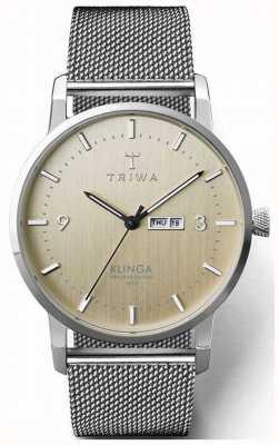 Triwa Mens Birch Klinga Steel Mesh | Champagne Dial KLST108-ME021212