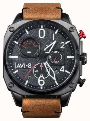 AVI-8 HAWKER HUNTER | Chronograph | Brown Leather Strap AV-4052-02
