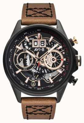 AVI-8 HAWKER HARRIER II | Chronograph | Brown Leather Strap AV-4065-03