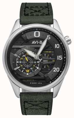 AVI-8 HAWKER HARRIER II - Ace Of Spades | Automatic | Green Leather Strap AV-4070-01
