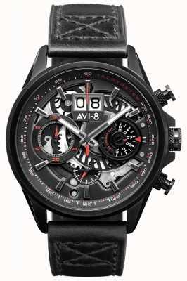 AVI-8 HAWKER HARRIER II | Chronograph | Black Leather Strap AV-4065-05