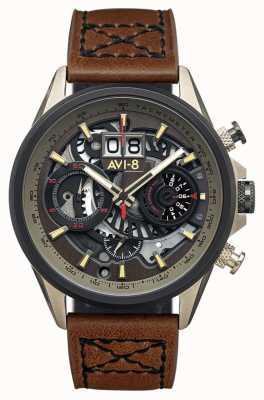 AVI-8 HAWKER HARRIER II | Chronograph | Brown Leather Strap AV-4065-06