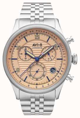 AVI-8 FLYBOY LAFAYETTE | Chronograph | Stainless Steel Bracelet AV-4076-44