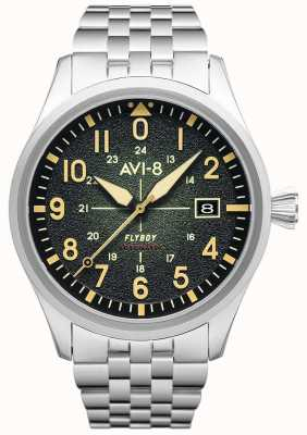 AVI-8 FLYBOY | Automatic | Green Dial | Stainless Steel Bracelet AV-4075-33