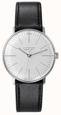 Junghans Max Bill | Hand Winding | Black Leather Strap | Silver Dial 027/3700.04