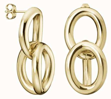 Calvin Klein Calvin Klein | Statement | Gold Tone | Steel Drop Earrings | KJALJE100100