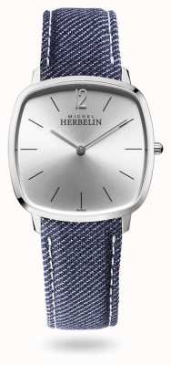 Michel Herbelin City | Silver Dial | Blue Denim Strap 16905/11JN
