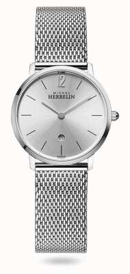 Michel Herbelin City | Silver Dial | Stainless Steel Mesh Bracelet 16915/11B