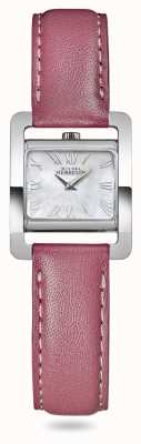 Michel Herbelin V Avenue   Pink Leather Strap   Mother Of Pearl Dial 17037/09ROZ