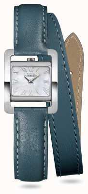 Michel Herbelin V Avenue | Duck Green Double Wrap Around Leather Strap 17037/09BVL