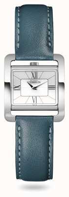 Michel Herbelin V Avenue   Duck Green Leather Strap   Silver Dial 17137/08BV