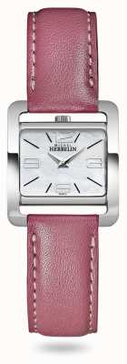 Michel Herbelin V Avenue   Pink Leather Strap   Mother Of Pearl Dial 17137/19ROZ