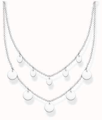 Thomas Sabo Sterling Silver | Double Disc Necklace KE2106-001-21-L45V