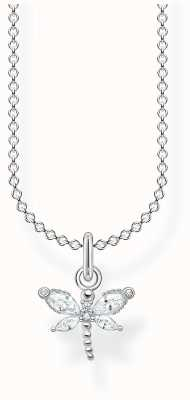 Thomas Sabo Sterling Silver Dragonfly Necklace | White Stones KE2097-051-14-L45V
