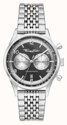 Thomas Sabo | Rebel At Heart | Men's | Stainless Steel Bracelet | Black Dial | WA0375-201-203-40