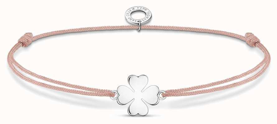 Thomas Sabo Little Secrets | Pink Nylon Cloverleaf Bracelet LS120-173-19-L20V