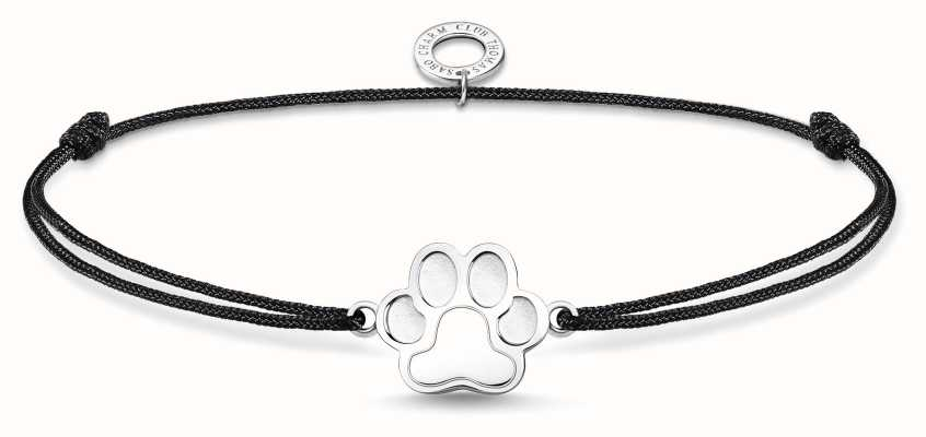 Thomas Sabo Little Secrets | Black Nylon Paw Print Bracelet LS123-173-5-L20V