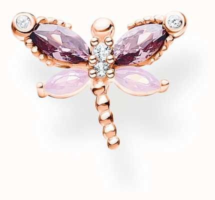 Thomas Sabo Rose Gold Plated Single Dragonfly Stud Earring H2188-321-7