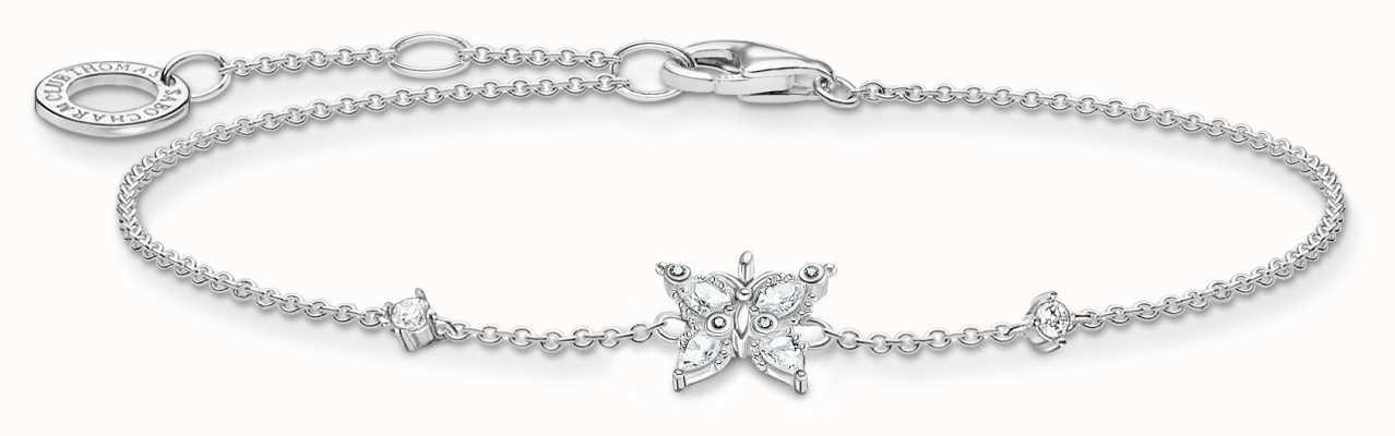 Thomas Sabo Sterling Silver Butterfly Bracelet A2028-051-14-L19V