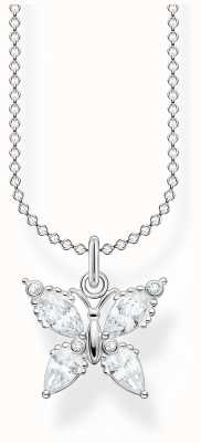 Thomas Sabo Sterling Silver Butterfly Necklace KE2101-051-14-L45V