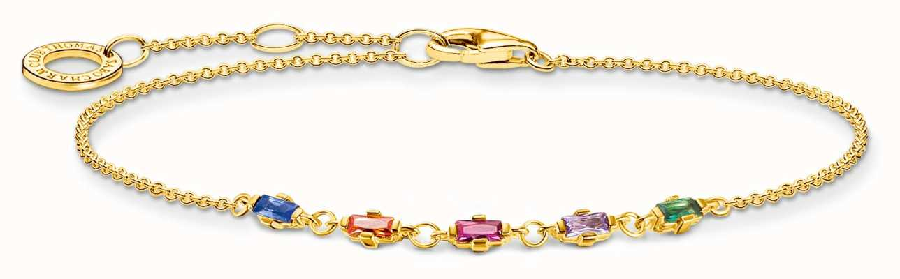 Thomas Sabo Gold Plated Bracelet | Colourful Stones A2024-488-7-L19V