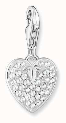 Thomas Sabo Sterling Silver Heart Pendant | Cubic Zirconia Stones 1864-051-14