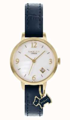 Radley Women's Navy Leather Strap | White Mother Of Pearl Dial RY21212