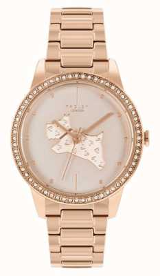 Radley Women's Rose Gold Plated Steel Bracelet | Rose Gold Dog Print Dial RY4556