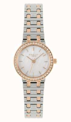 Radley ~Women's Two-Tone Steel Bracelet | Mother Of Pearl Dial RY4565