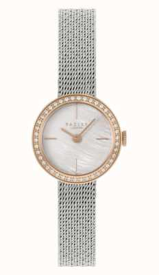 Radley Women's Silver Steel Mesh Bracelet | Mother Of Pearl Dial RY4567