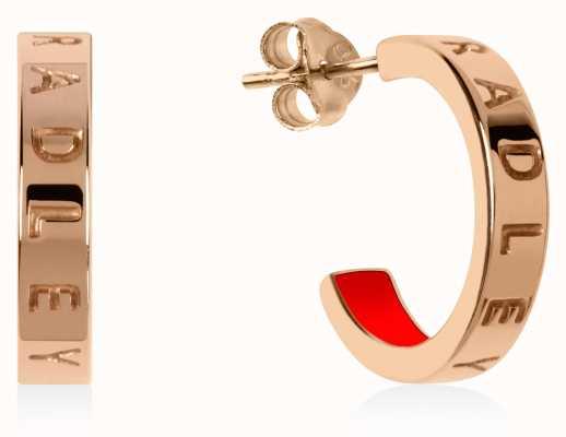 Radley Jewellery Radley Rocks | Rose Gold Plated Small Hoop Earrings RYJ1160S