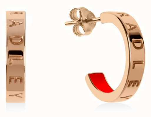 Radley Jewellery Radley Rocks | Rose Gold Plated Small Hoop Earrings RYJ1160S