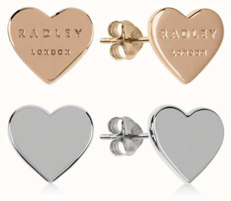 Radley Jewellery Love Letters | Rose Gold And Silver Heart Stud Earrings | Set RYJ1155S