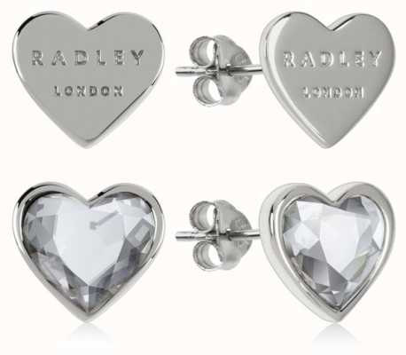 Radley Jewellery Love Heart | Sterling Silver Heart Stud Earrings | Set RYJ1157S