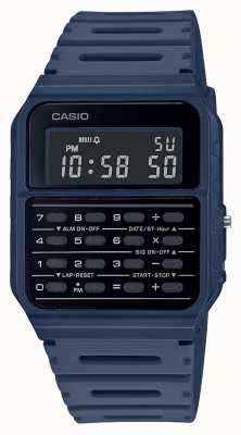 Casio Retro Calculator Watch | Blue Resin Strap | Black Dial CA-53WF-2BEF