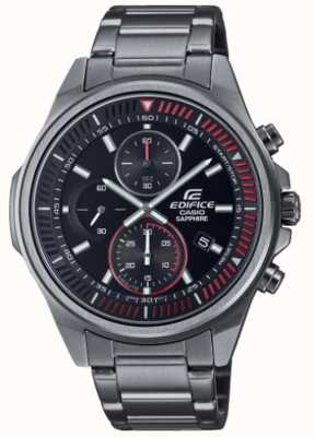 Casio Edifice -Classic Collection | Stainless Steel Bracelet | Black Dial EFR-S572DC-1AVUEF