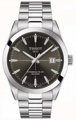 Tissot Gentleman Auto   Powermatic 80   Stainless Steel Bracelet   Anthracite Dial T1274071106101