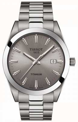 Tissot Gentlemen Titanium | Silver/Grey Titanium Bracelet | Grey Dial T1274104408100