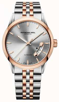 Raymond Weil Freelancer | Men's Two-Tone Steel Bracelet | Silver Dial 2770-SP5-65011
