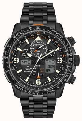 Citizen Skyhawk A-T   Men's Black IP Steel Bracelet   Black Dial JY8075-51E