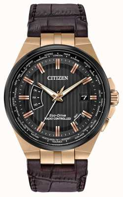 Citizen Men's World Perpetual A-T | Brown Leather Strap CB0168-08E