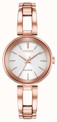 Citizen Women's Eco-Dive Axiom Rose Gold Bracelet EM0633-53A