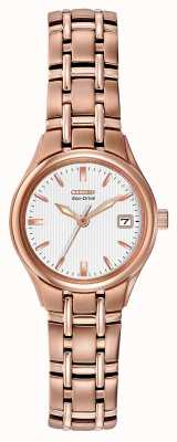 Citizen Women's Eco-Drive Rose Gold Bracelet EW1263-52A