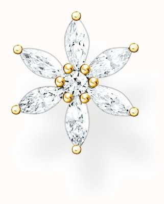 Thomas Sabo Happy Moments | Filigree Flower Single Ear Stud | White Stones H2196-414-14