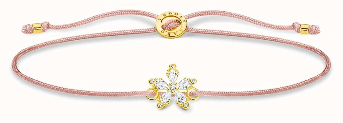 Thomas Sabo Little Secrets | Pink Nylon Bracelet | Flower Charm LS119-379-19-L20V