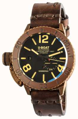 U-Boat Sommerso 46 Bronze Automatic Brown Leather Strap 8486/C