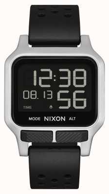 Nixon Heat | Black Perforated Rubber Strap A1320-008