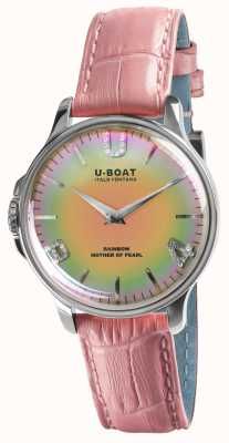 U-Boat RAINBOW 38MM PINK SS PINK LEATHER STRAP 8472